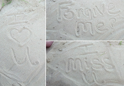 apology in the sand