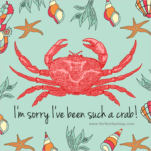 Sorry image for being crabby
