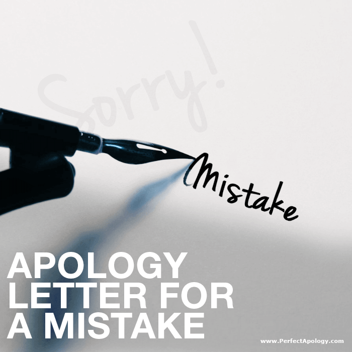 A fountain pen writing mistake on a piece of paper that has the word sorry on it