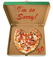 Apology Pizza for Girlfriend or Boyfriend