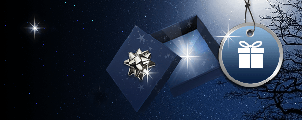 Starry Sky with an open gift box with a star inside