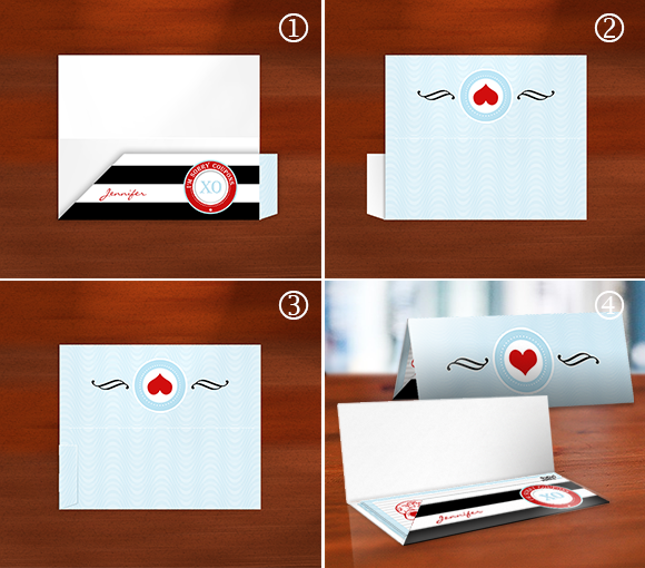 Steps for folding the envelope