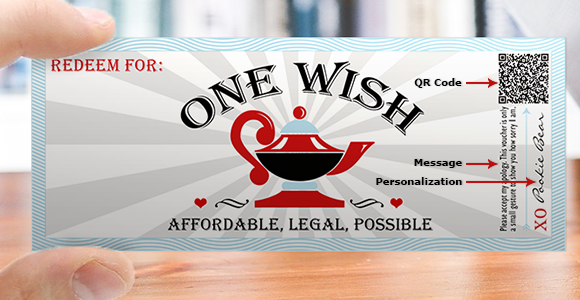 Sorry Love Coupon, Good for One Wish