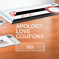 Sorry love coupon booklet