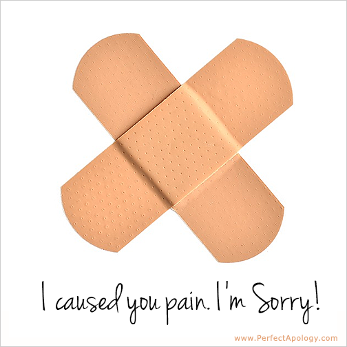 A Band-Aid saying I'm sorry I hurt you