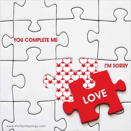 Puzzle image with your love being the missing piece