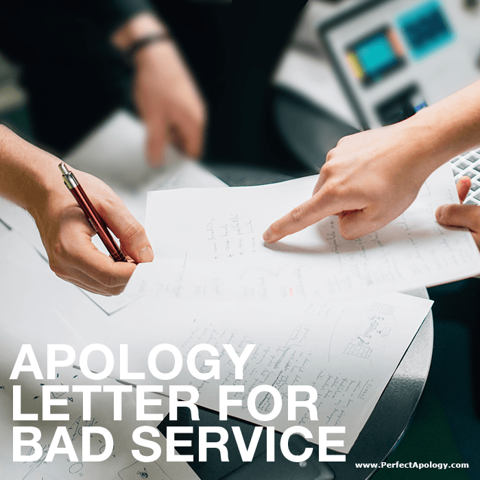 Apology Letter For Bad Service | The Perfect Apology