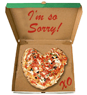 Apology Pizza for Girlfriend or Boyfriend